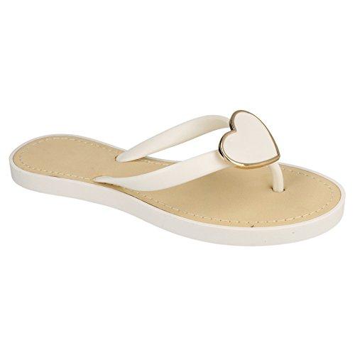 Spot Heart Post Black Metal On Toe Sandals Glam Ladies adqgwFg