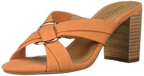 - Aerosoles Women's HIGHWATER Heeled Sandal, Orange Nubuck, 11 W US