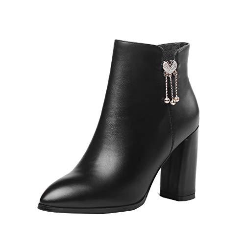 Delle Zipper Caviglia Aguzza Nero Maypie Stivaletti Blocco Stivaletti Modo Donne Tallone Punta Tq4wZFX