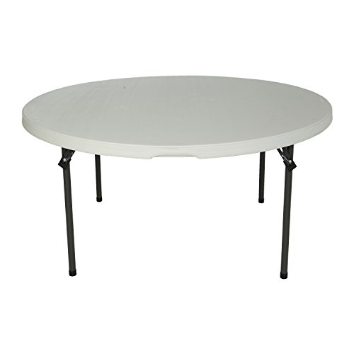Lifetime 280301 Commercial Folding Round Table, 5 Feet, White by Lifetime