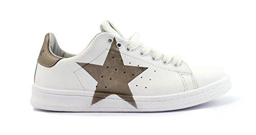 Nira Rubens Sneaker DAST50 Daiquiri Stella White/Bronze Taglia 38 - Colore Bianco