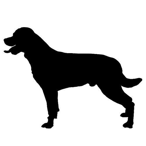 Hitada - 16.1x11.6CM Rottweiler Dog Vinyl Decal Silhouette Waterproof Car Stickers Car Styling Decoration Black/Silver