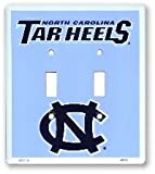 North Carolina Tar Heels Collegiate Vanity Metal Novelty Double Light Switch Cover Plate LS12012