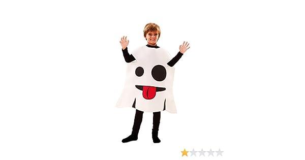 Disfraz de Emoticono Fantasma para niños: Amazon.es: Juguetes y juegos