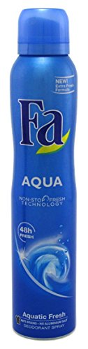 Fa Deodorant 6.75 Ounce Spray Aqua 199ml 2 Pack