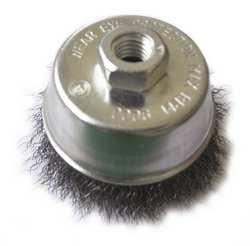 Westward 4EDT4 Cup Brush, 3 In D, Steel, 0.0140 Wire