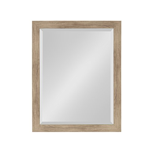 ce Framed Decorative Rectangle Wall Mirror, 21 x 27, Rustic Brown ()
