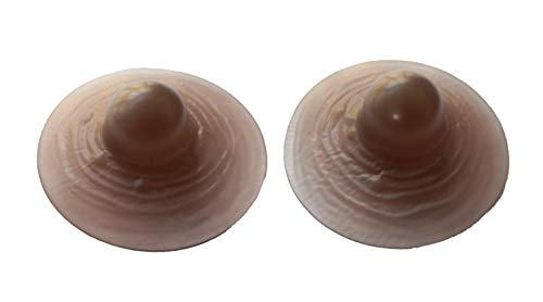 WitHelper Adhesive Silicone Nipples for Breast Form,Costumes Party,Drag Queen,CD (Larger Nipples-Coffee) (Best Breast Form Adhesive)