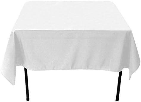 Mantel blanco cuadrado de 2,28 x 2,28 m para mesa de caballetes de ...