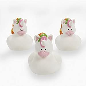 Fun Express Unicorn Rubber Duckies