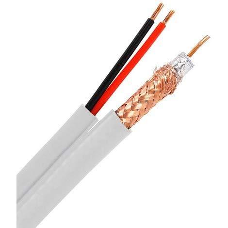 Cable coaxial Blanco de CCTV y alimentación en Bobina de 100m ...