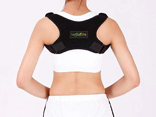 Back Posture Corrector for Women and Men - Adjustable Clavicle Brace and Upper Back Support for Pain Relief from Slouching and Rounded Shoulders - Can Be Worn Under Clothes