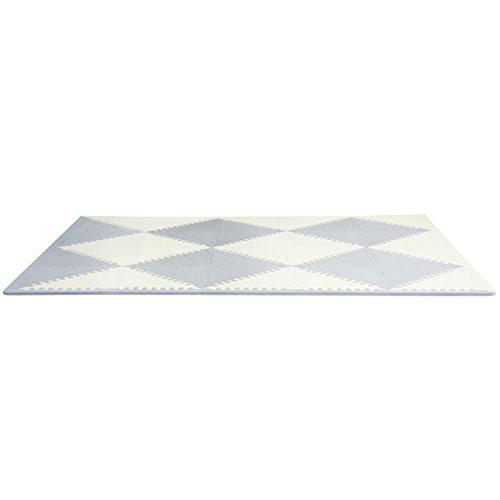 (Skip Hop Playspot Geo Foam Floor Tiles - Grey/Cream)