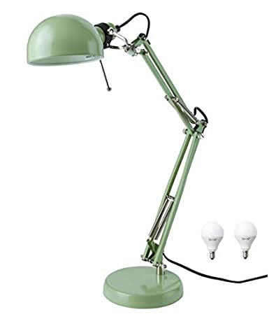 Ikea Classic Forsa Work Lamp And E12 Bulb Bundle Includes