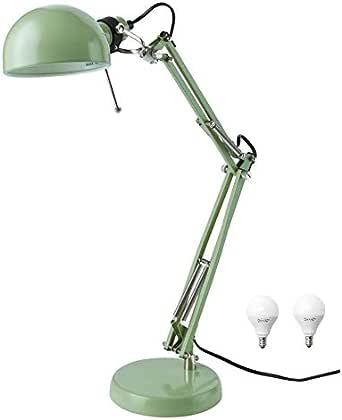 IKEA Classic Forsa lámpara de trabajo y bombilla E12 – Incluye una ...