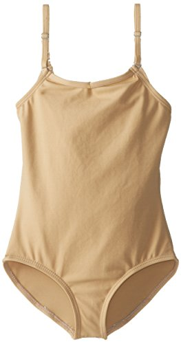 Capezio Big Girls' Team Basic Camisole Leotard W/ Adjustable Straps,Nude,L (Nude Colored Leotard)