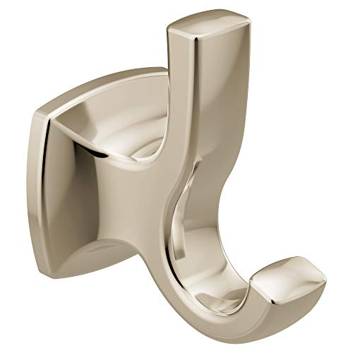 - Moen YB5103NL Voss Collection Double Robe Hook, Polished Nickel