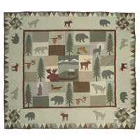 Patch Magic King Mountain Whispers Quilt, 105-Inch by 95-Inch by Patch (Mountain Whispers Quilt)