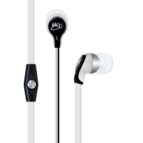 MEElectronics RX12P In-Ear Headphones with Inline Microphone - White