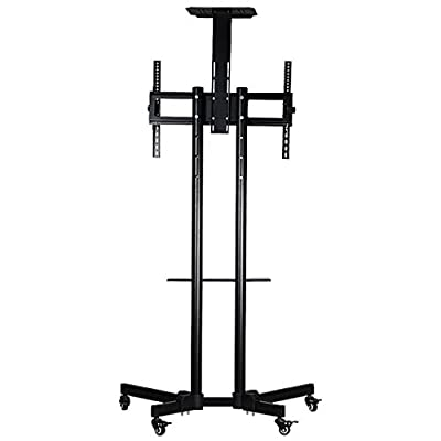 DSHBB TV Mount Bracket,Floor Landing Frame with Roller Dolly,TV Bracket,for LED LCD Plasma Televisions Computer LCD Rotation