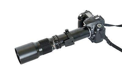 FidgetFidget 500mm 望遠レンズ + Tマウント Canon Rebel XS T1i T2i T3 T3i T4i デジタル一眼レフカメラ用   B07HJ7NS5X