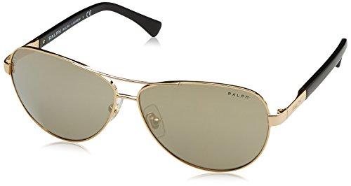 Polo Ralph Lauren Women's 0RA4116 Aviator Sunglasses, Gold & Black, 60 - Aviator Polo Sunglasses
