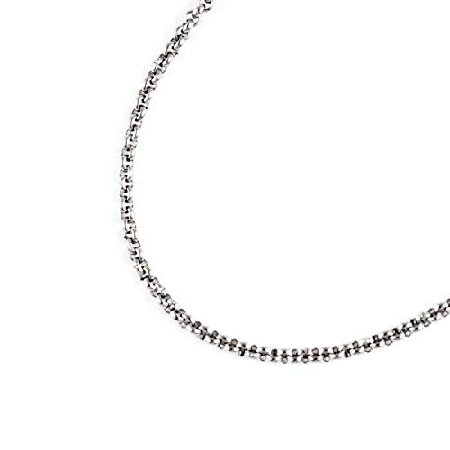 JFSG 316L Stainless Steel 2mm, 3mm, 4mm, 5mm Mens Or Womens Rolo Chain Necklace 22