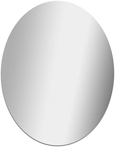 Glossy Gallery Oval Shatterproof Acrylic Safety Mirror – 22in x 28in