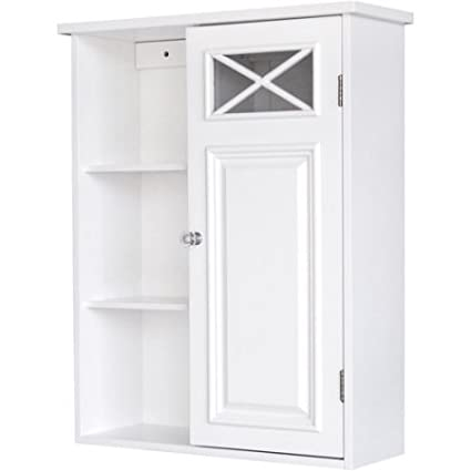 Super Prairie Wall Cabinet With Side Shelves And Door White Download Free Architecture Designs Meptaeticmadebymaigaardcom