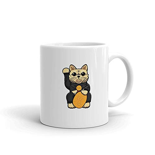 Lucky Butterball 11 Oz White Ceramic Coffee Mug Cup Best Thanksgiving Birthday Gift]()