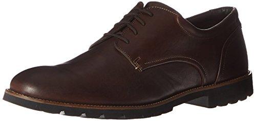 Rockport Men's Colben Plain Toe Oxford Chocolate Brown 14 W (EE)-14 - Dark Chocolate Footwear