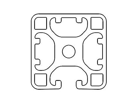 Designprofil Aluminiumprofil 40x40 3N I-Typ Nut 8 Zuschnitt 50-1190mm