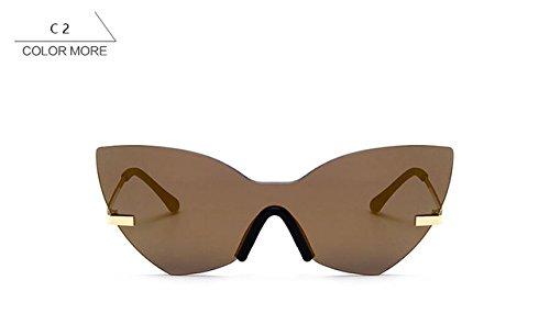 2017 Designer Sunglasses - 365Cor(TM) Fashion Lady Rimless Cat Eye Sunglasses Women 2017 New Italy Brand Designer Mirror Sun Glasses Female Vintage Metal Frame Shades