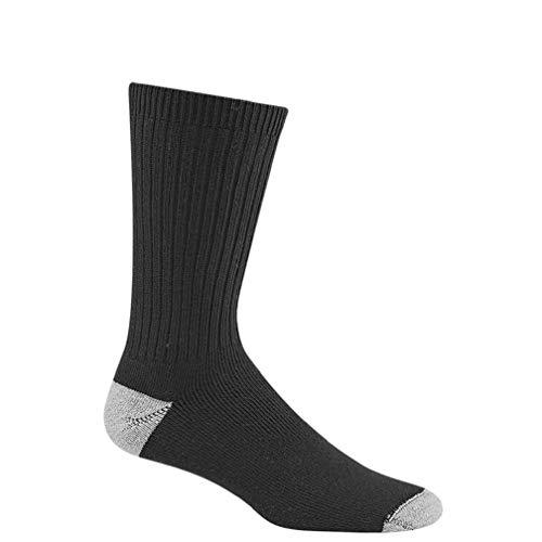 (Wigwam Diabetic Sport Crew Sock Black,Large )