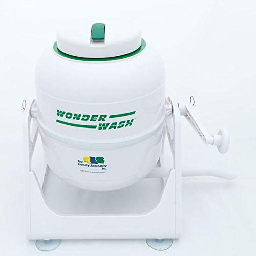 The Laundry Alternative - The Wonder Wash Compact Washing Machine - Non-Electric, Hand-Cranked Small Portable Washer