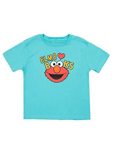 Out of Print Sesame Street Elmo Loves Books Kids Shirt 6 yr