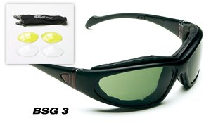 Body Specs Ballsitic Sunglasses BSG-3 Black Shiny Frame, These Ballistic Sunglasses Are Compliant With Safety and Ballistic Standards ANSI Z87.1, Z80.3, and Mil-STD 662, Sec Pro Is A Proud Supplier - Sunglasses Bsg