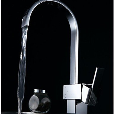 DZ Contemporary Waterfall 360 Degree Rotate One Hole Single Handle Kitchen Faucets