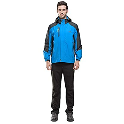 YSENTO Mens Lightweight Waterproof Jacket Windproof Outdoor Camping Hiking Mountain Jacket Coat with Hood 5