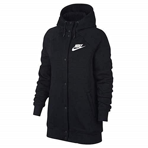 NIKE Women's Sportswear Rally Fleece Jacket, Black, Medium
