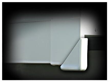 Camco 42193 Slide-Out Corner Guard Polar White