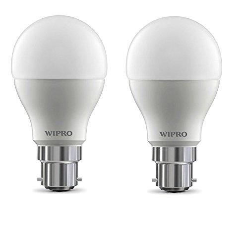 Wipro Garnet Base B22 15-Watt LED Bulb (Pack of 2, White)
