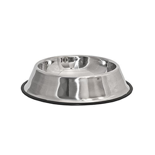 ALEKO PSSB04XL Stainless Steel Pet Dog Cat Puppy Food Bowl XL