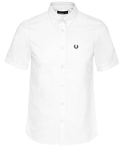 Fred Perry Men's Classic Oxford Shirt, Snow White, XX-Large (Classic Oxford Oxford Shirt)