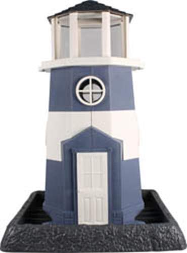 North States Village Collection Light House Birdfeeder- Blue /White