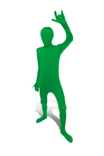 [Green Original Kids Morphsuit Costume - size Small 3'1-3'6 (94cm-107 cm)] (Original Costumes For Halloween)