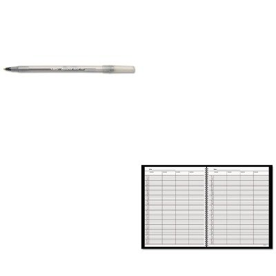 (KITAAG8031005BICGSM11BK - Value Kit - At-a-Glance Recycled Four-Person Group Undated Daily Appointment Book (AAG8031005) and BIC Round Stic Ballpoint Stick Pen (BICGSM11BK))
