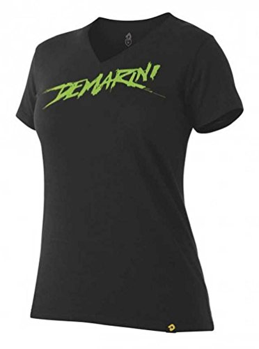 Wilson Sporting Goods DeMarini Women's Slasher Graphic Tech V-Neck T-Shirt, Black/Lime. WTD306676 (S) (Good Tech Womens Tee)