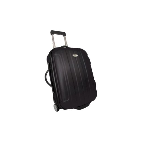 Traveler's Choice Rome 21″ Hardside Rolling Carry-On Upright – Black, Bags Central