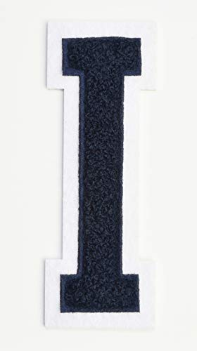 Dark-Navy-Blue-Embroidered-Chenille-Varsity-Letterman-Patch-4-12-inch-Iron-On-Initial-Dark-Navy-Letter-I